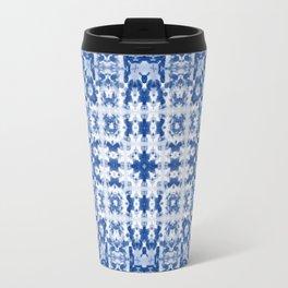 Aquatica Denim Blues Kaleid2 Travel Mug