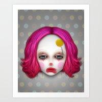misfits Art Prints featuring Misfits - Lulu by Raymond Sepulveda
