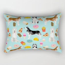 Husky siberian huskies junk food cute dog art sweet treat dogs pet portrait pattern Rectangular Pillow