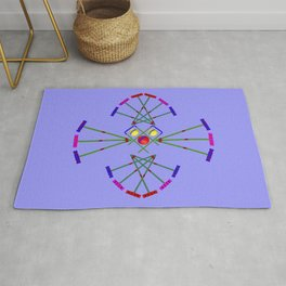 Croquet - Mallets,Balls and Hoops Design Rug