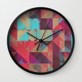 Risograph 1/Diamond Wall Clock