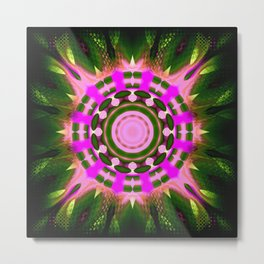 Enchanted Forest's Heart Abstract Metal Print