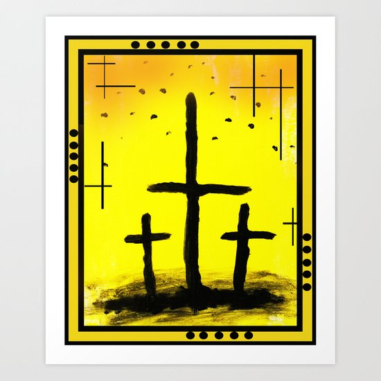 The Crosses  Art Print