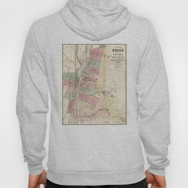 Vintage Map of Troy NY (1874) Hoody