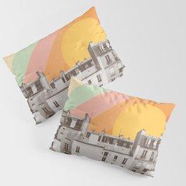 Rainbow Sky Above Paris Pillow Sham