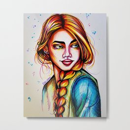 Braided Love Metal Print