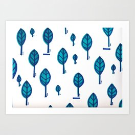 Standing Leaf Print Art Print