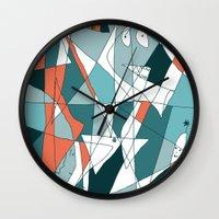golf Wall Clocks featuring Golf by Carmen Navajas