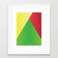 rasta Framed Art Prints featuring Rasta Triangles by Arlo @ Creative Konzepts