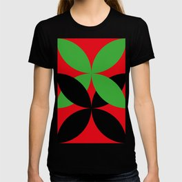 Two four-leaf clovers hugging in a beautiful deep red space. How lucky! T-shirt