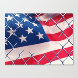 Illegal immigration concept Canvas Print