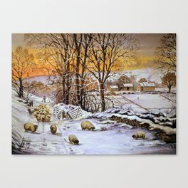 Winter in the Ribble valley Canvas Print