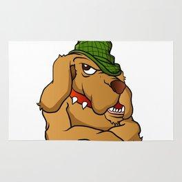 detective dog cartoon Rug