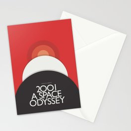 2001 A Space Odyssey - Stanley Kubrick minimalist movie poster, Red Version, fantasy film Stationery Cards