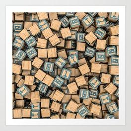 Binary blocks Art Print