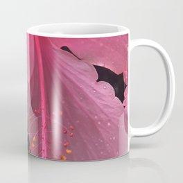 Dewdrops on Tropical Pink Flower Coffee Mug