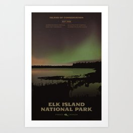 Elk Island National Park Art Print