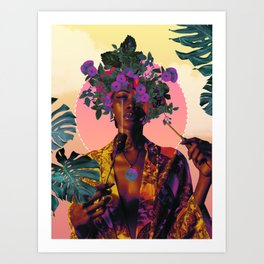 Flower Goddess Art Print