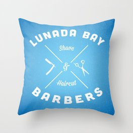 Barber Shop : Lunada Bay Barbers Throw Pillow