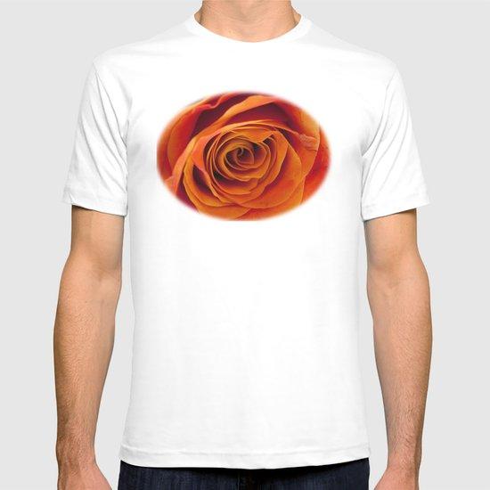 Orange rose bloom T-shirt