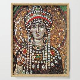 Byzantine Empress Saint Theodora of the Roman Empire Serving Tray