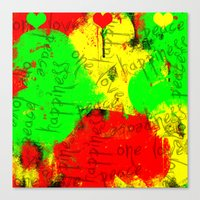 rasta Canvas Prints featuring Rasta by Kimberly