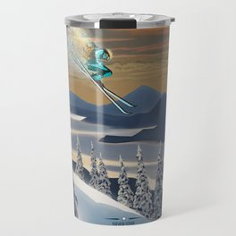 Ski Silver Star Travel Mug