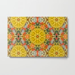 Marigold Kaleidoscope Photographic Pattern #2 Metal Print