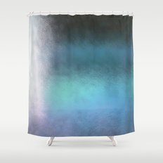 Abstract Square - blue Shower Curtain