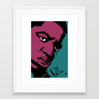 notorious Framed Art Prints featuring Notorious by Vee Ladwa
