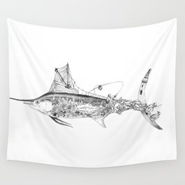 Fisherman Marlin Wall Tapestry