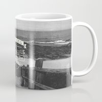 pocketfuel Mugs featuring Be strong and courageous! by Pocket Fuel