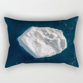 Arcturus the lone Iceberg – Minimalist Landscape Photography Rectangular Pillow