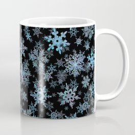 """Embroidered"" Snowflakes Coffee Mug"