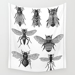 Bees and Wasp Wall Tapestry