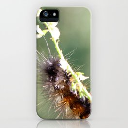 Hang in there Fuzzy Caterpillar 3 iPhone Case