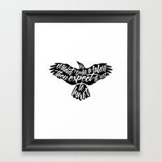 Six of Crows - Falcon design Framed Art Print