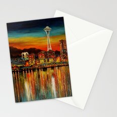 Seattle from Alki Stationery Cards