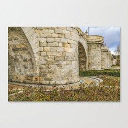 Segovia Bridge at Madrid, Spain Canvas Print