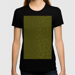 Burnt Yellow Shadowed Leopard Print T-shirt