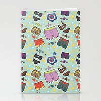super heroes Stationery Cards featuring kinky super heroes by Audrey Molinatti