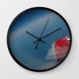 deep blue skies Wall Clock
