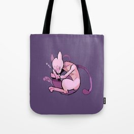 sleepy mewtwo Tote Bag