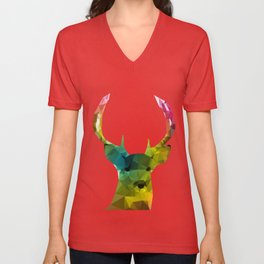 Glass Animal - Deer head Unisex V-Neck