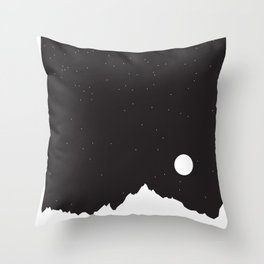 Mountain Sky Night Throw Pillow