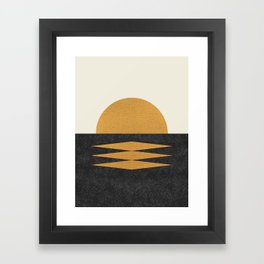Sunset Geometric Midcentury style Framed Art Print