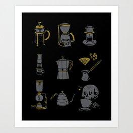 Coffee Equipment Art Print