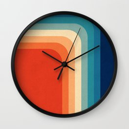 Retro 70s Color Palette III Wall Clock