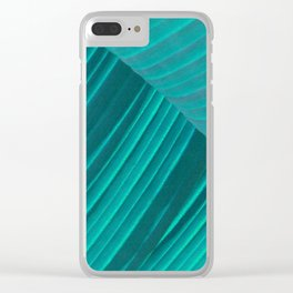 Banana Leaf Abstract Clear iPhone Case