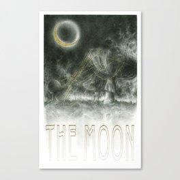 The Moon Tarot Card Canvas Print